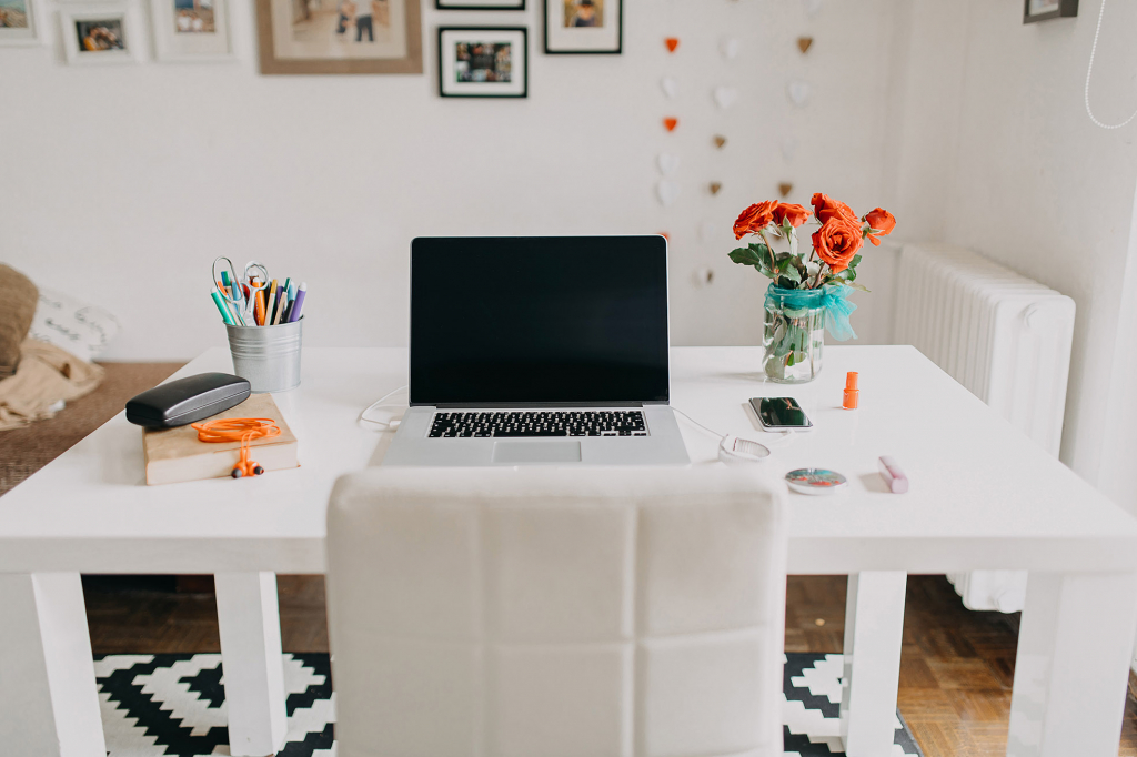 stylish home office environment