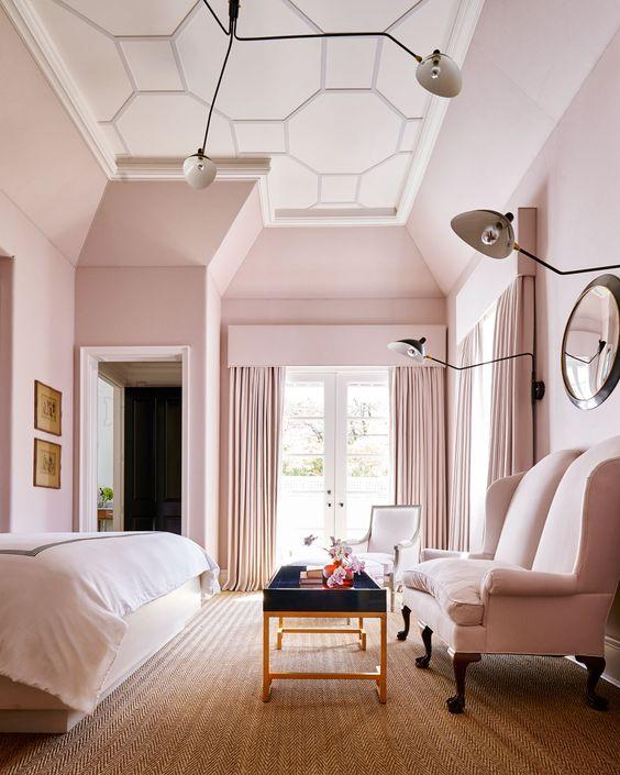 Pink bedroom ideas with Blush pink walls designer Meredith Steinhart Photo Stephen Kirlisch