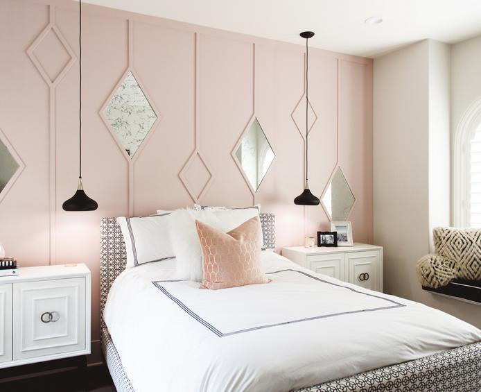pink bedroom ideas Parisian bedroom by Tamra Coviello by Blackdoor design