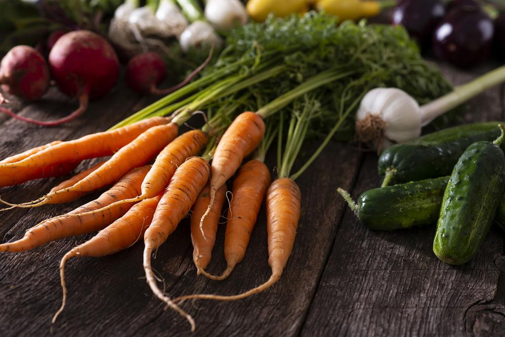 Garden vegetables after growing vegetables at home