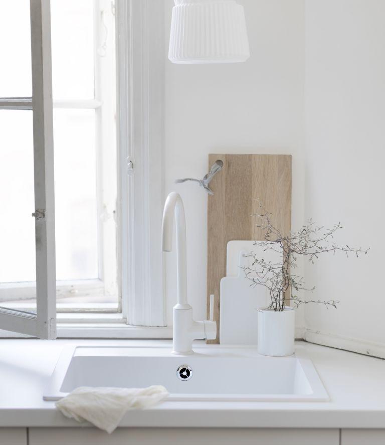 Ikea white kitchen sink