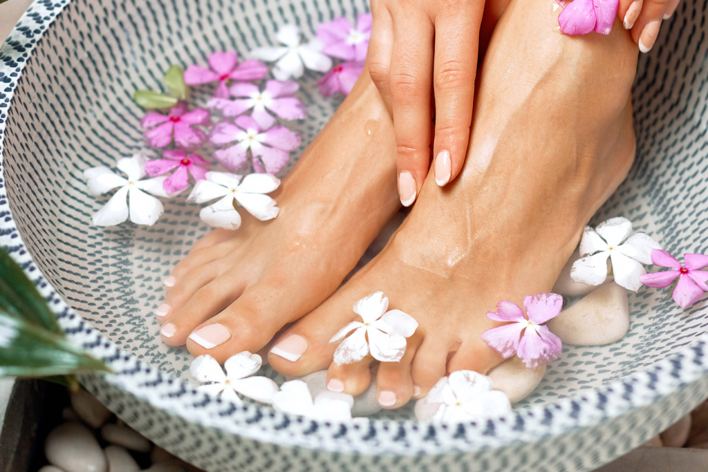 Spa treatment for pedicure