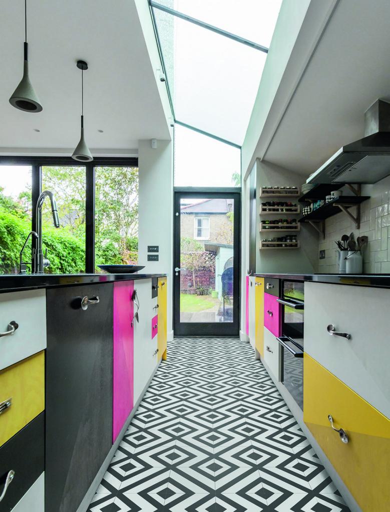 Colour clash kitchen