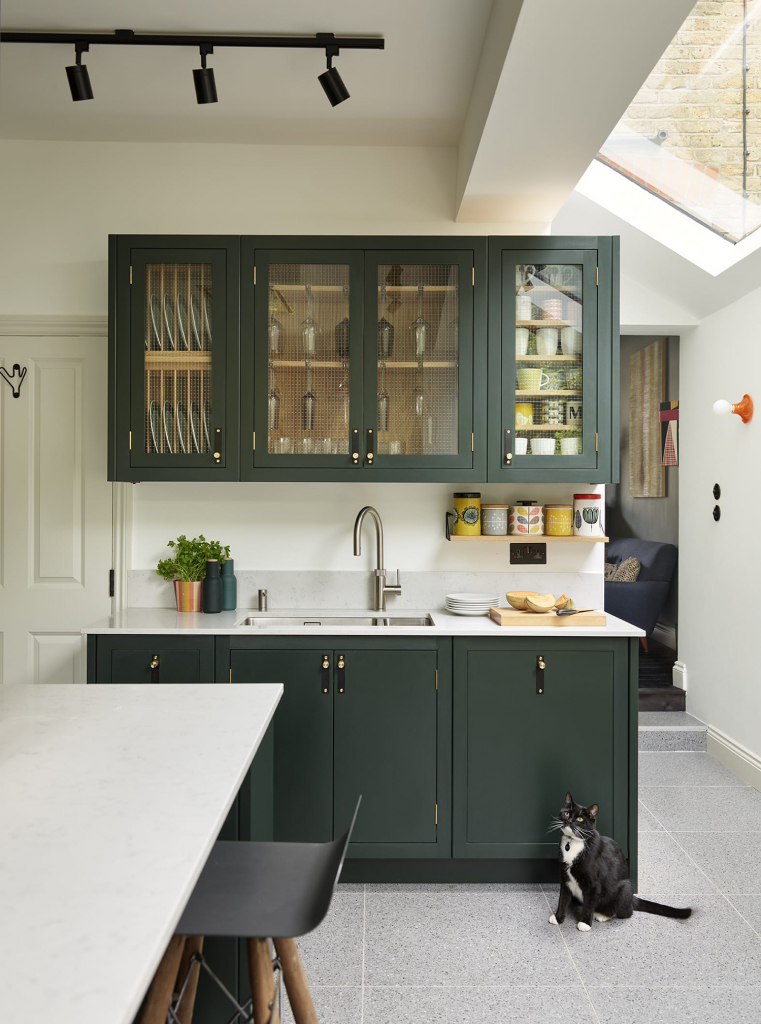 Davenport colourful kitchen in green