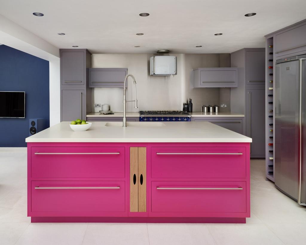 Harvey Jones modern colourful kitchen Linear