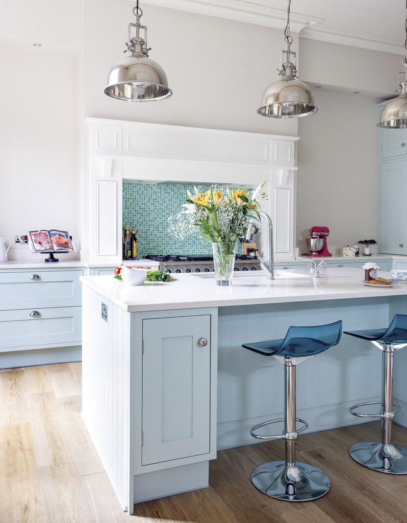 Pastel blue kitchen from Kitchens International