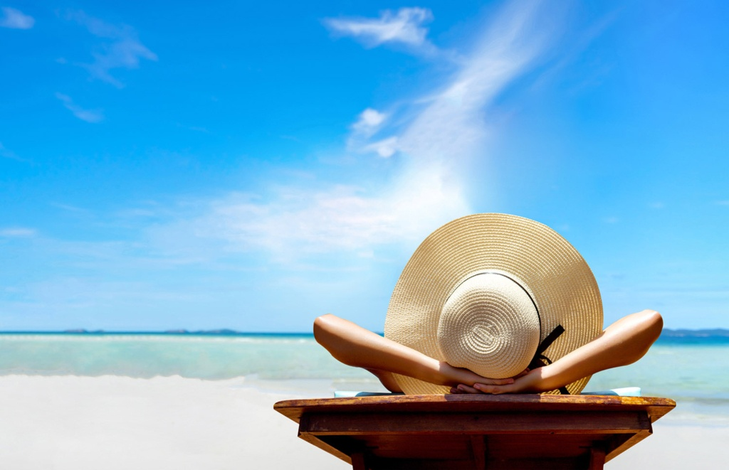 woman on beach holiday