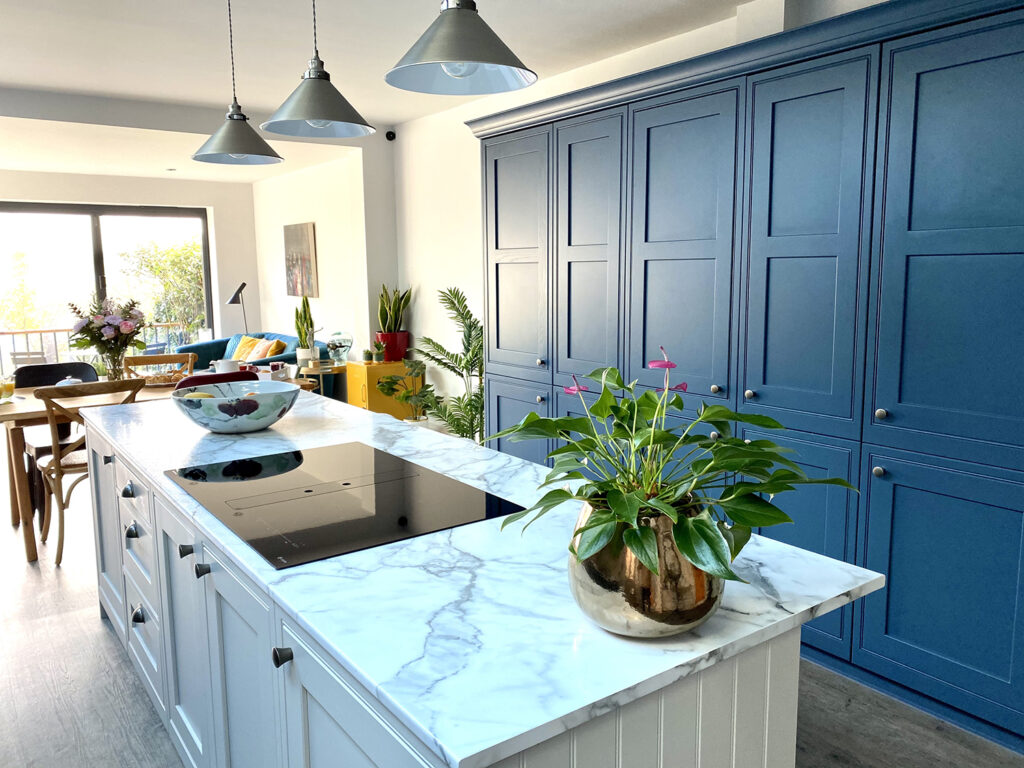 Kitchen makeover with island unit taking centre stage