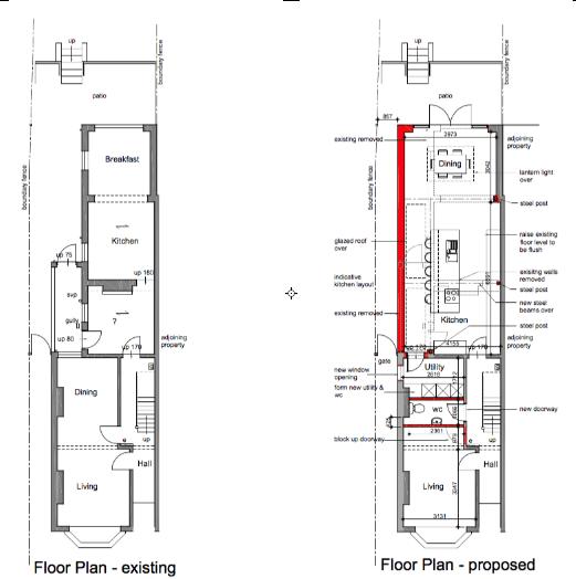 Ground floor reconfiguration