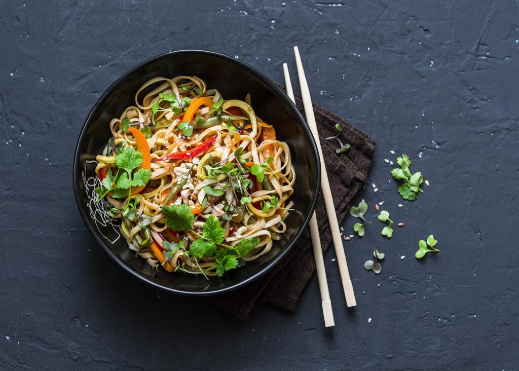 Pad Thai style dish for Veganuary
