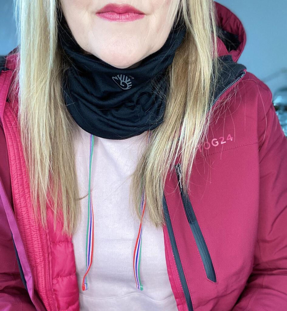 neck warmer for walking gear