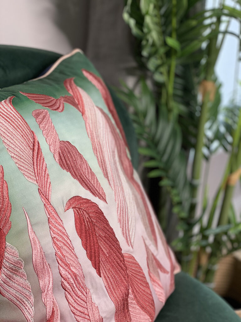 Detail shot of Christian Lacroix cushion