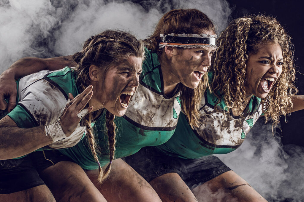 Three Female Rugby Players