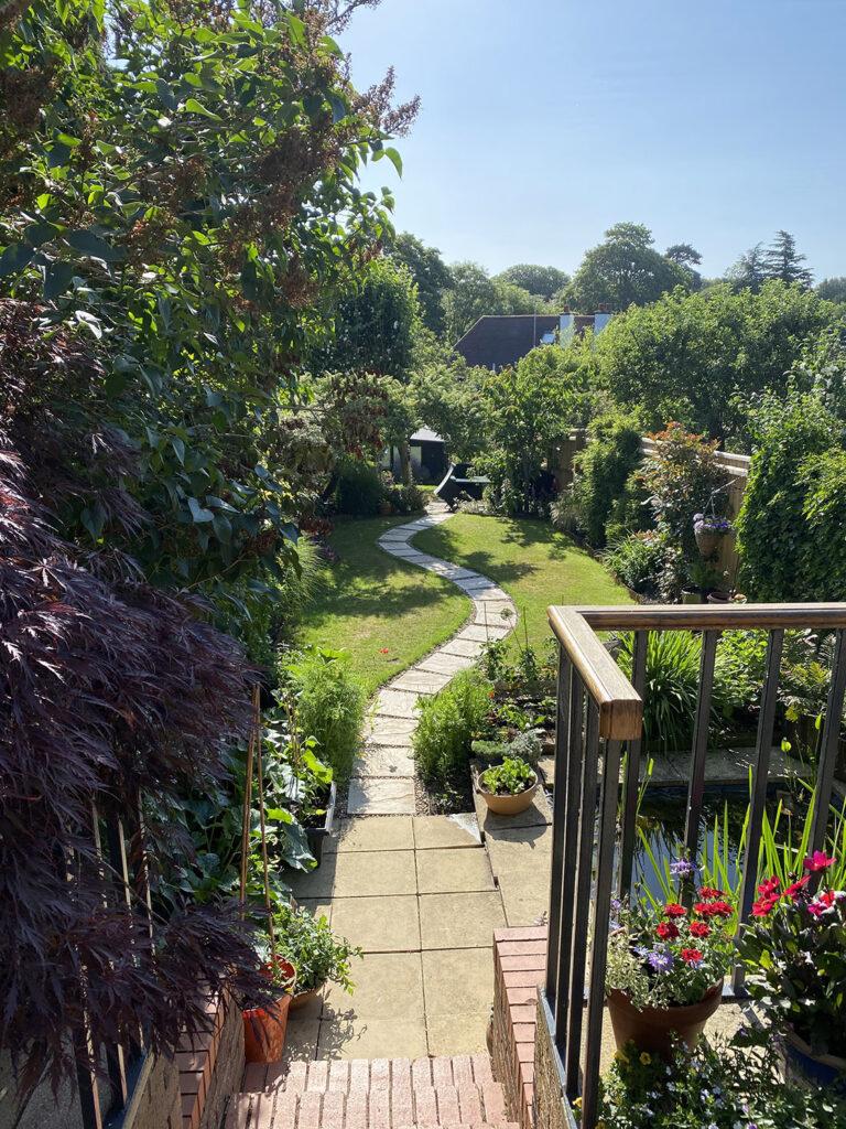 Garden view in summer