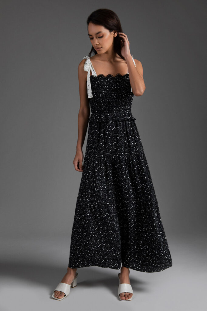 ETHEREAL black zia summer dress