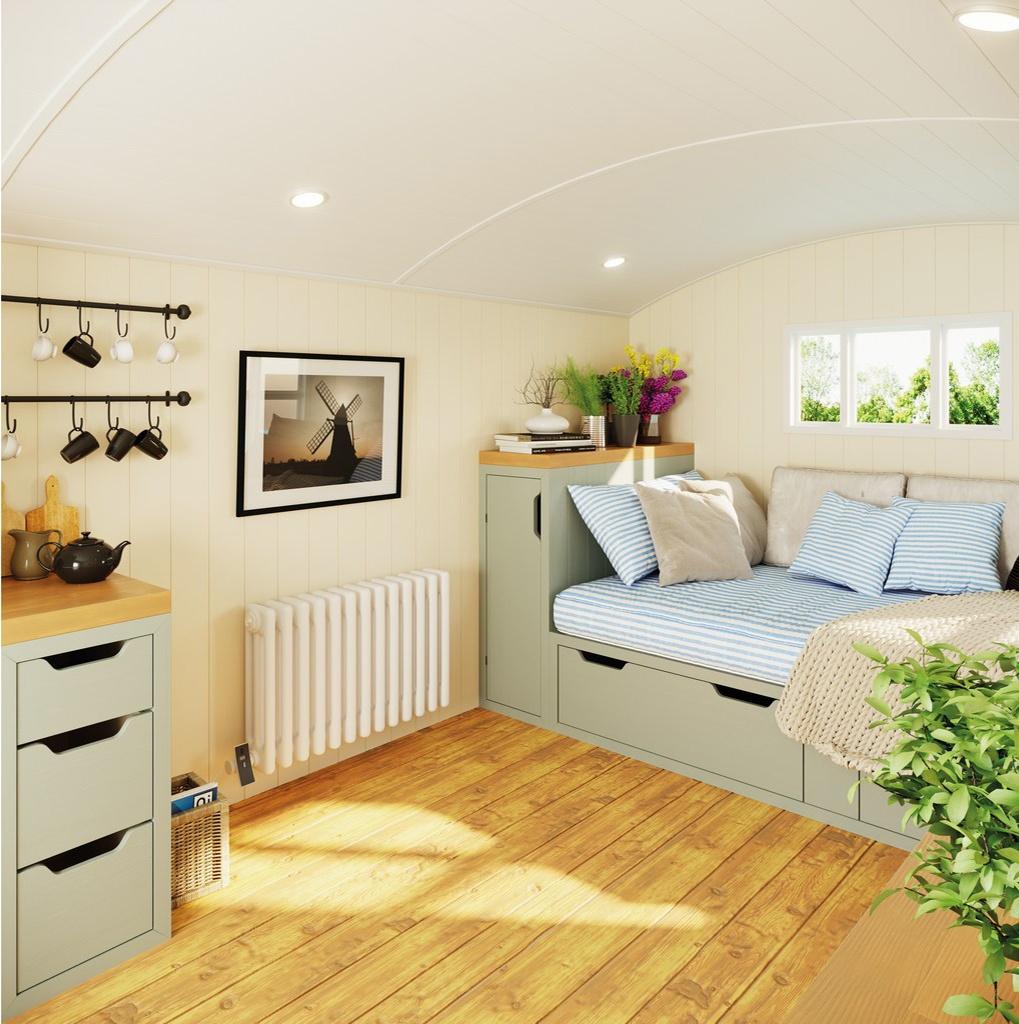 Modus Electric radiator in Shepherd Hut